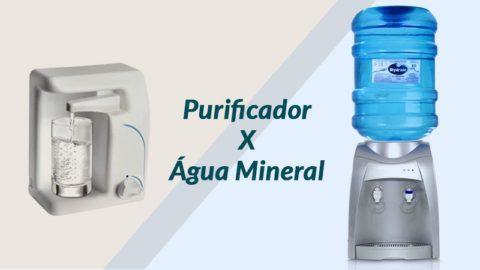 Purificador de água ou galão de água mineral